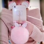 Super Furry Rabbit Fur Keychain Fluffy Charm Bag Phone KeyChain Ball Pom Pendant