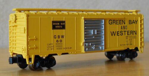 N scale boxcar GBW Green Bay /& Western box car Bachmann NWOB knuckle couplers