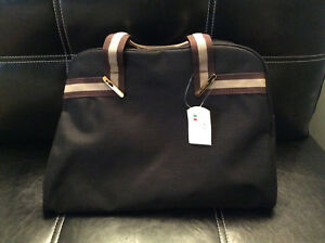 Zipper Cristina Black Pockets Canvas Anna Italy Satchel Firenze Bag nwOk0P8