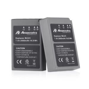 2x-2000mAh-BLS-5-Battery-for-Olympus-BLS-50-PS-BLS5-OM-D-E-M10-PEN-E-PL2-E-PL5