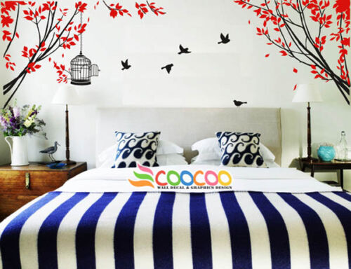 Wall Decor Decal Sticker large tree spring leaves 2