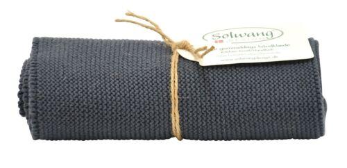 Handtuch Küchentuch gestrickt dunkelgrau H93 Solwang Design DK