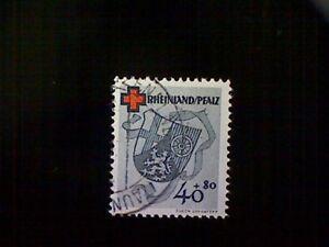 Stamp, Germany (Allied Occupation-Rheinland-Pfaltz), Scott #6NB6, used(o)