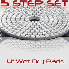Diamond Polishing Pads 4 Inch 5 Piece Set Wet Dry For Granite Concrete Marble