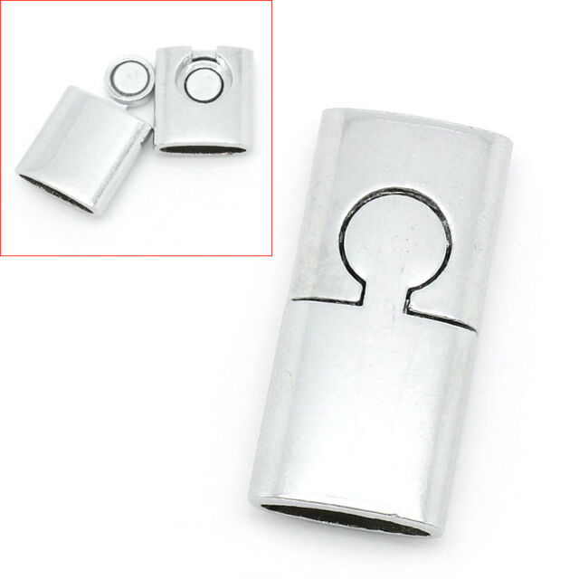3PCs Siliver Tone Rectangle Toggle Clasps Findings 3x1.4cm