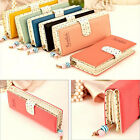 Girl's Clutch Wallet Purse Card Coin Money Bag Phone Case For Iphone 4 5 5s 6 6s