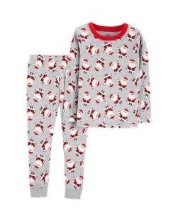 6fbcc6f5cb86 Boy Carter s Child of Mine Gray Red Christmas Santa Cotton 2 Piece ...