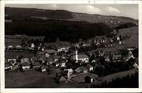 Lenzkirch im Hochschwarzwald alte Ansichtskarte 1951 Gesamtansicht mit Umgebung