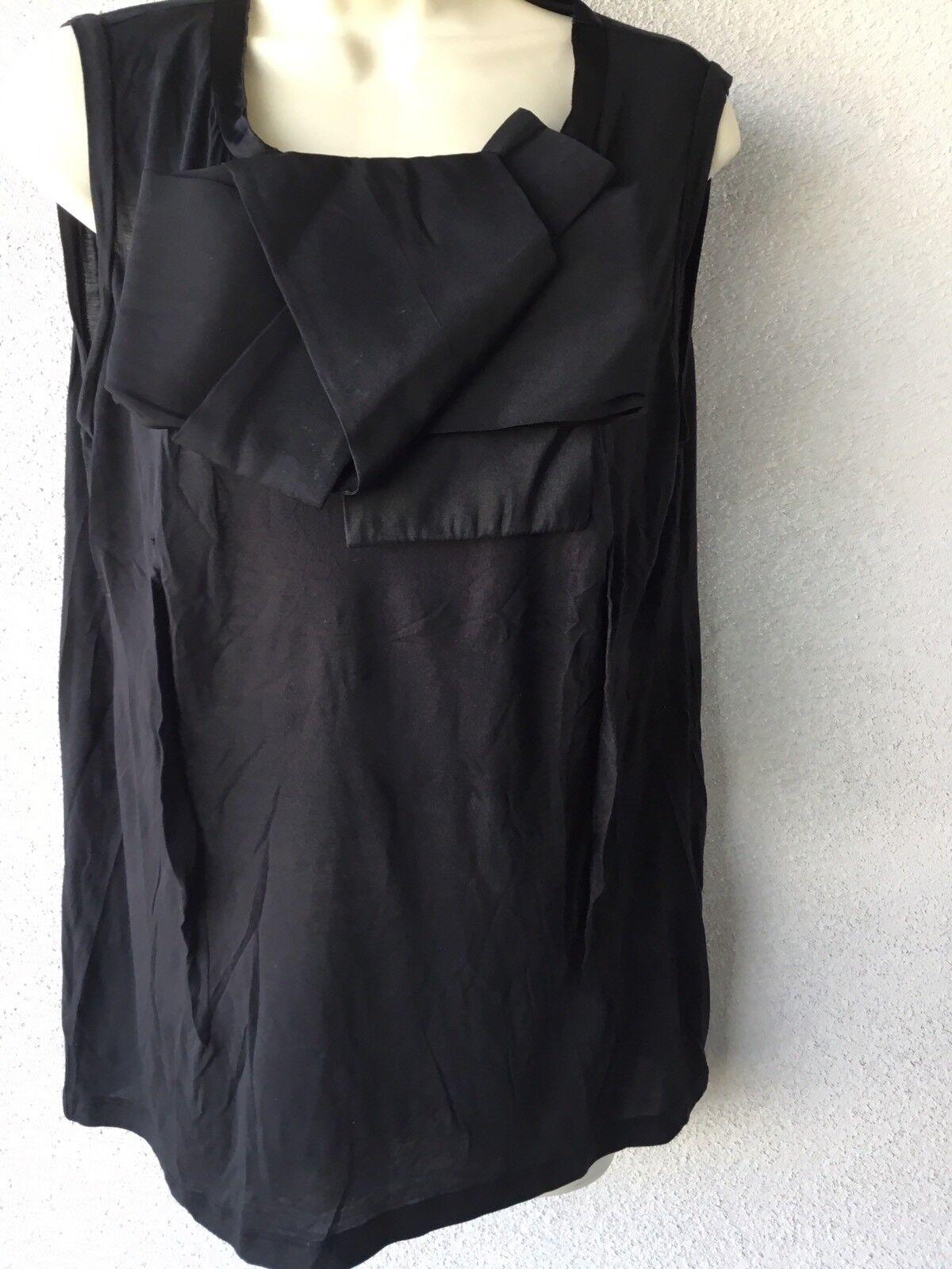 Lanvin Cotton Silk Big Bow Top Shirt  Größe :L