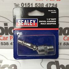 "Sealey ACX90 Screwed Swivel Adaptor Male 1/4""BSPT Air Line Connector"