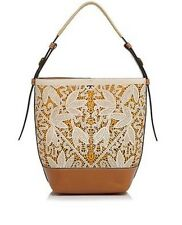 NWT $895 TORY BURCH FLORAL PERFORATED HOBO