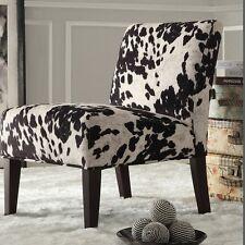 Weston Home Black Cow Hide Lounger Chair, Black