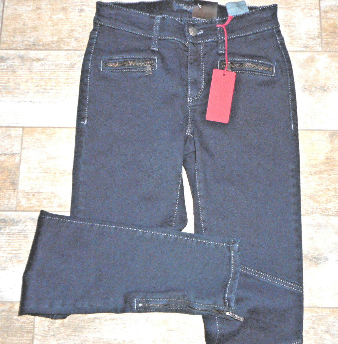 CAMBIO Jeans ZIP BLU SCURO  M. Cerniera  Tg. 36 NUOVO