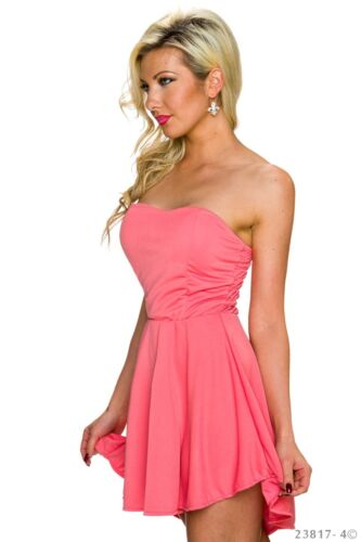 Bandeau Mini Kleid Cocktail Party Stretch A-Linie Ballkleid Tunika Volant 36//38