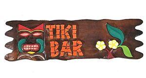Déco Panneau - Tiki Bar - 50cm pour bar Hobby cave restaurant ou Pub ...