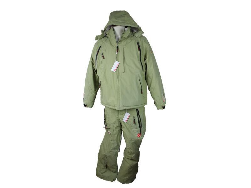 Phiokka - - Phiokka Completo da sci/snowboard pantaloni e giacca colore verde chiaro f30132