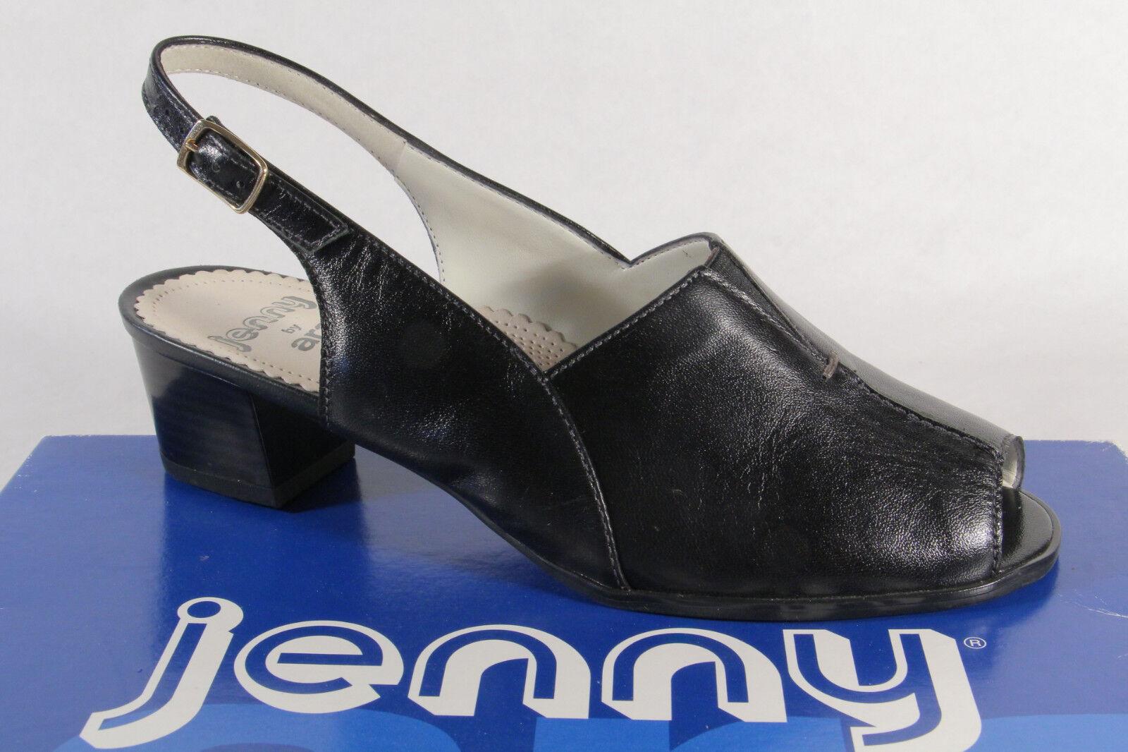 Último gran descuento Jenny by Ara Sandalias Honda Cuero auténtico negro NUEVO
