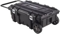 Husky 35 In. Mobile Job Box Portable Rolling Storage Tool Organizer Toolbox Cart