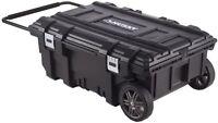Husky 35 In. Mobile Job Box Portable Rolling Storage Tool Organizer Toolbox Cart