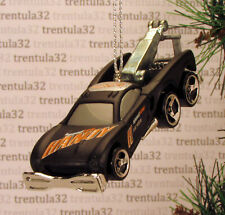 PIT CREW SEMI BIG RIG TOW TRUCK WRECKER WHITE RED CHRISTMAS ORNAMENT XMAS