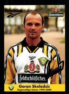 Goran Skeledzic Autogrammkarte Dynamo Dresden 1999-00 Original Signiert