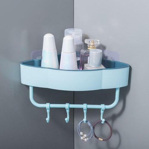 Shower Caddy Shelf Bathroom Corner Bath Storage Holder Organizer Wall Rack Hook