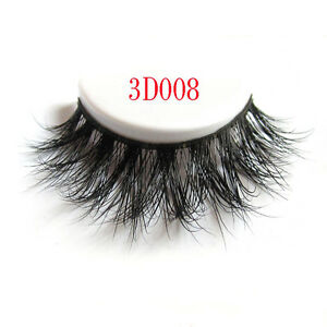 1Pair-Long-Natural-Thick-Mink-Handmade-Makeup-Fake-False-Eyelashes-Eye-Lashes