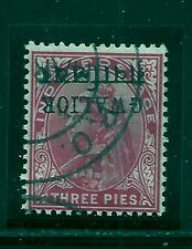 1895-96 GWALIOR, SG38a £850 INVERTED, USED KGV MINT, INDIA,INDIAN STATES,RARE