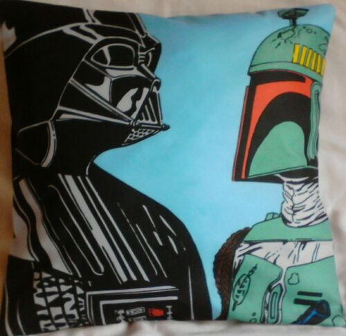 Star Wars Darth Vader and Boba Handmade cushion cover// pillow case 16 x 16 inch