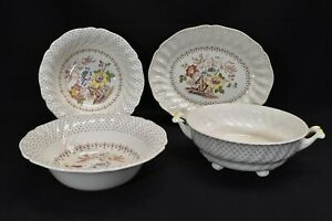 Royal-Doulton-Grantham-D5477-Round-Vegetable-Bowls-amp-Oval-Platter-4-Pieces