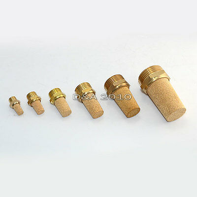 "1/8""-1"" Threaded Pneumatic Muffler Cone Filter Silencer Sintered Bronze Fitting"