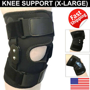 Hinged-Patella-Knee-Brace-Gym-Weightlifting-Support-Compression-Pain-Relief-XL