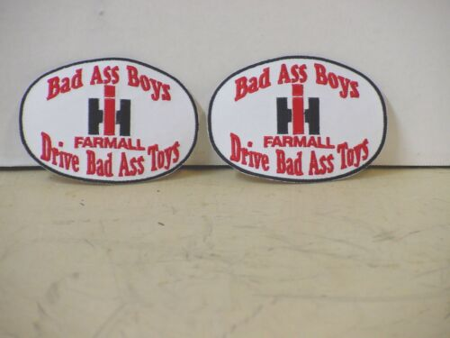INTERNATIONAL HARVESTER PATCHES 2 BAD ASS BOYS DRIVE BAD ASS TOYS