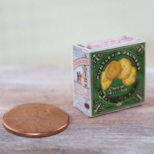 Casa De Bonecas Miniatura Comida 1:12 Vintage Replica Década De 1930 Queijo Lata Biscoitos Sortidos