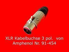Amphenol XLR Kabelbuchse 3 oder 5 polig Steckverbinder Rundsteckverbinder Stecke