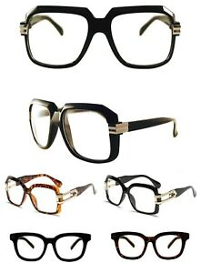 a41672d591 Men s Women vintage retro Style Clear Lens eye glasses thick black ...