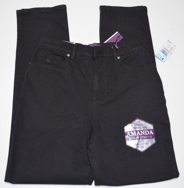 33ad7ed84e5ccb Gloria Vanderbilt Womens Amanda Embroidered Jeans 8 Black Rinse | eBay