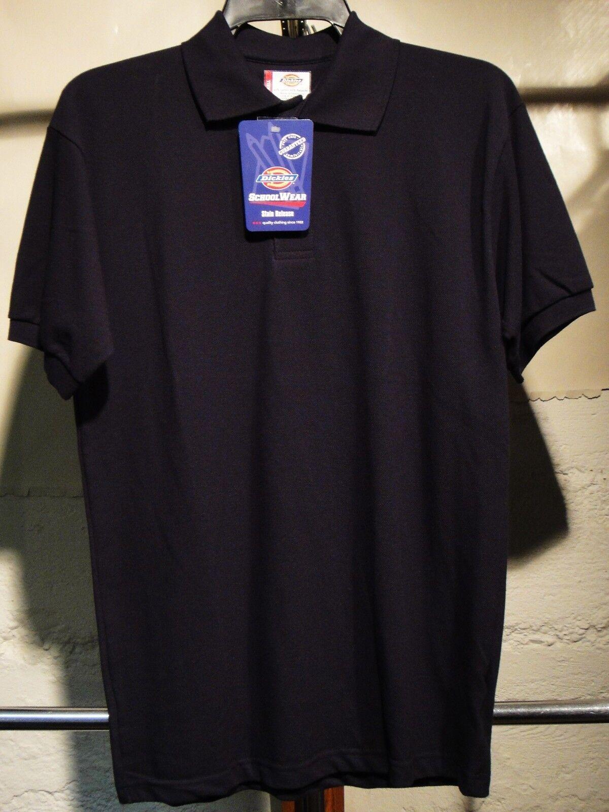 Dickies Mens Short Sleeve Polo Shirt Black XL
