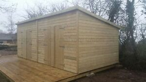 20ft x 10ft Heavy Duty 13mm tampg Tanalised Pent WorkshopShed Extra double doors - <span itemprop=availableAtOrFrom>Shrawley Worcester, United Kingdom</span> - Returns accepted Most purchases from business sellers are protected by the Consumer Contract Regulations 2013 which give you the right to cancel the purchase within 14 days aft - Shrawley Worcester, United Kingdom