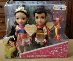 NEW DISNEY PRINCESS Petite Mulan /& Shang Gift Set TOYS R US Exclusive
