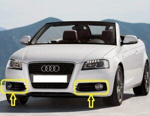 Genuine-Audi-A3-08-13-Parachoques-Delantero-Parrilla-de-Luz-de-Niebla-Conjunto-De-Par-Izquierda