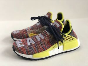 pretty nice b1f38 1d004 Details about ADIDAS HU NMD MULTI [SZ 9] PHARRELL RED BLUE YELLOW HUMAN  RACE TR TRAIL AC7360
