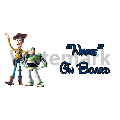 Personalised Cowboy On Board Car Sign Baby On Board Disney Toy Story Woody DB