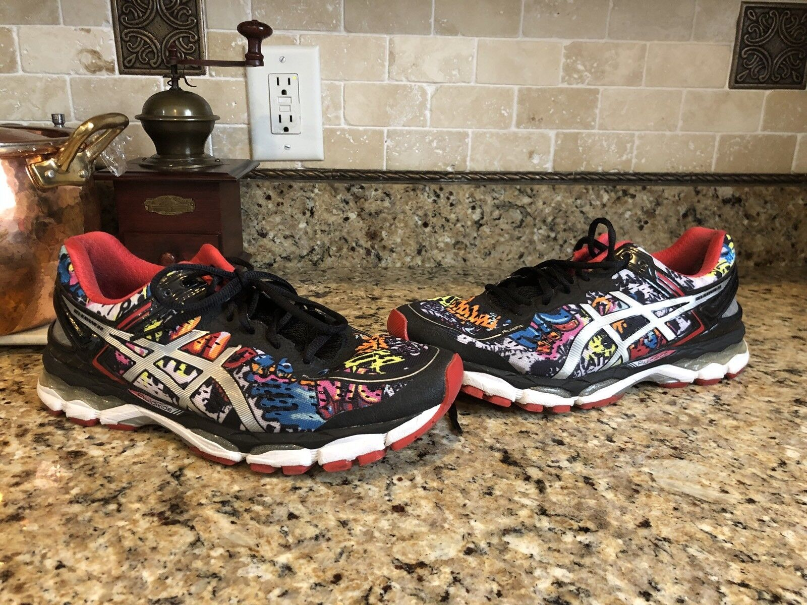 Asics Gel Kayano Kayano Kayano 22 New York NYC Marathon Freedom Men's Running shoes 9 1 2 359c57