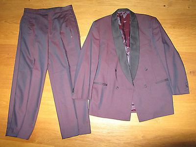 Elegante Wilvorst Smoking Viola Splendenti Tg 48 Condizioni Super-mostra Il Titolo Originale