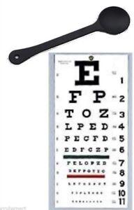 OCCLUDER + Wall Snellen Eye Exam Vision Test Chart 22