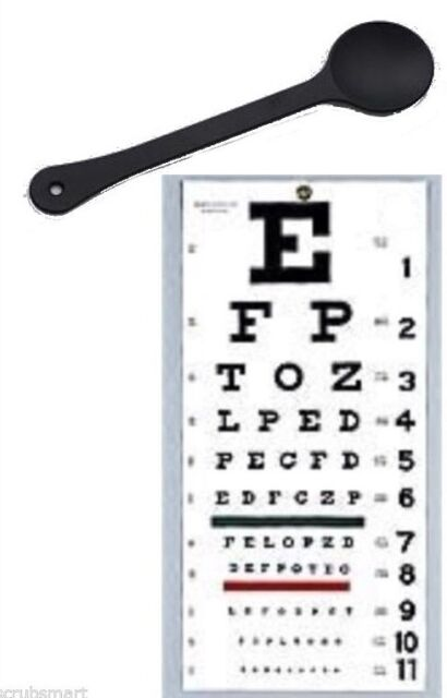 OCCLUDER + Wall Snellen Eye Exam Vision Test Chart 22