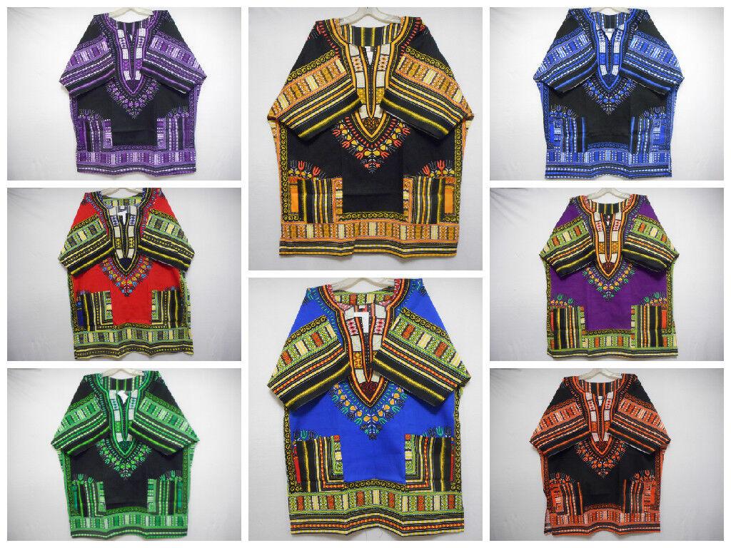 Mens Dashiki Shirts African Vintage Blouses Hippie Top WHOLESALE LOT 10 Pieces