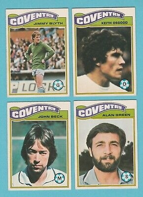 TOPPS-FOOTBALL -#174- COVENTRY KEITH OSGOOD ORANGE BACK 1978
