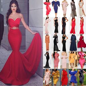 Womens-Bodycon-Midi-Maxi-Dress-Formal-Wedding-Evening-Party-Bridesmaid-Prom-Gown